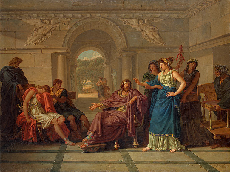 Jean-Jacques Lagrenee,Helen Recognizing Telemachus