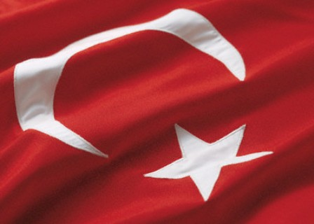 Flag of turkey --- Image by © Royalty-Free/Corbis