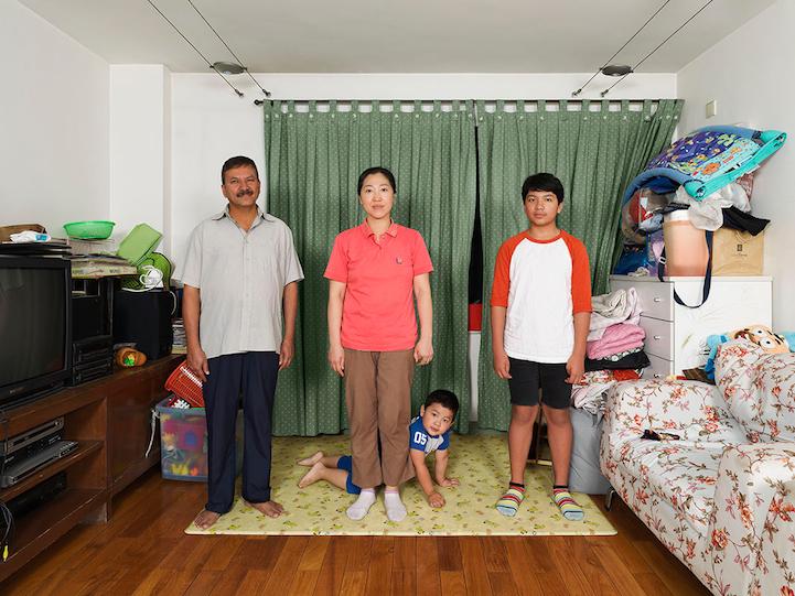 """Mixed Blood"" Chandola Family, 2013.Citizenships: Indian, Korean. Ancestries: Indian, Korean. Languages: English, Korean, Mandarin, Hindi. Lives in Beijing."